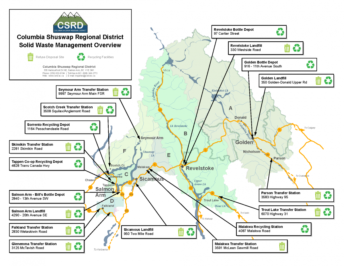 Landfill Sites and Transfer Stations | Columbia Shuswap Regional
