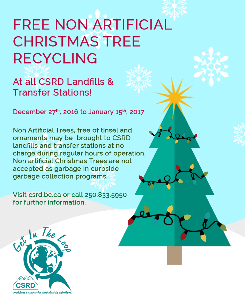 Columbia Christmas Tree: Free Christmas Tree Recycling