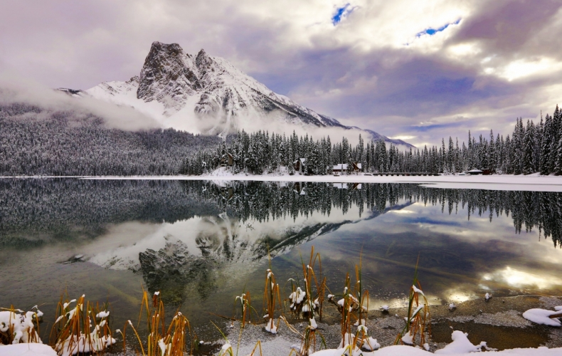 Emerald Lake in Early Winter